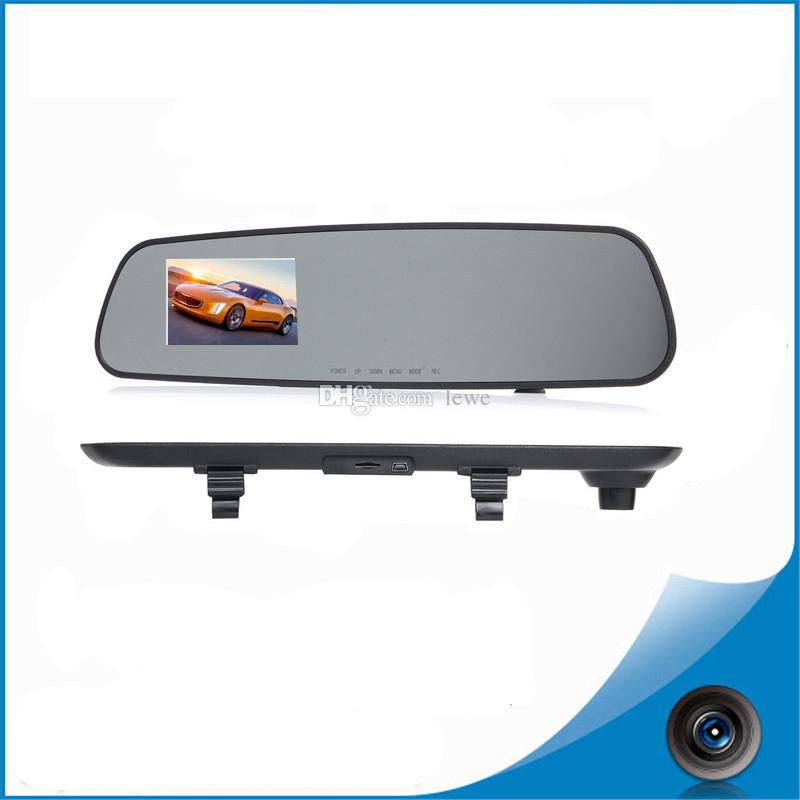 Hot selling 1080P 720p rearview mirror driving recorder 3.2 inch driving recorder cameras free shipping