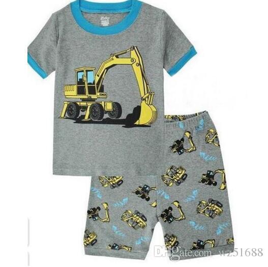 Children Pajamas Sets 2017 Summer Shorts Pyjamas Boys Clothes Pijama Suit Girls Sleepwear Nightgown Cotton Kid Pijamas