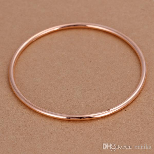 Wholesale Single Loop Bangle 925 Silver Bracelet , Size 3mm 7.0cm Fashion Smooth Bangles Jewelry Christmas Gift b137