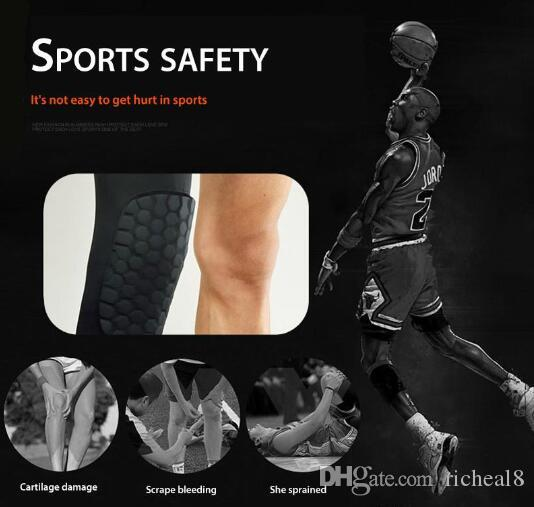2018 retail Honeycomb Knee Pads Bumper Crashproof Football Basketball Leg Sleeve Sports Kneepad Protector Kneelet Brace