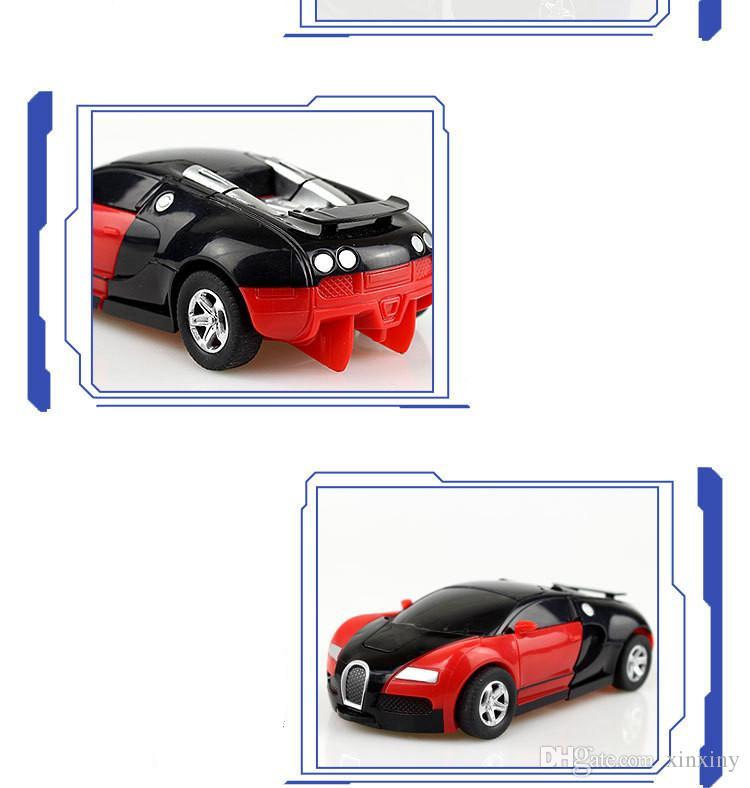 2017 heißer verkauf schrittweise verformung des spielzeugs King Kong 5 Bugatti ein schlüssel drehte männliche und weibliche tasche puzzle PK modell.