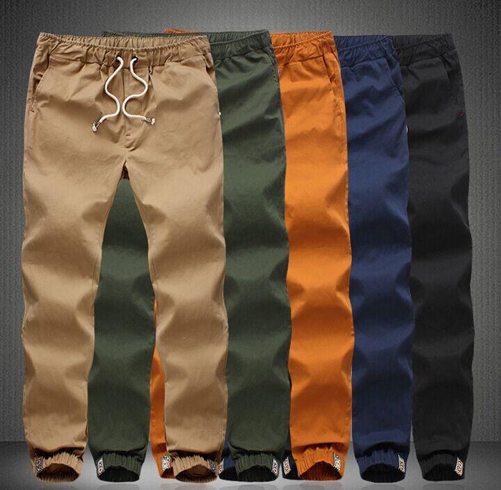 5e6636174314 2019 Wholesale Joggers Male Plus Size Khaki Pants Mens Casual ...