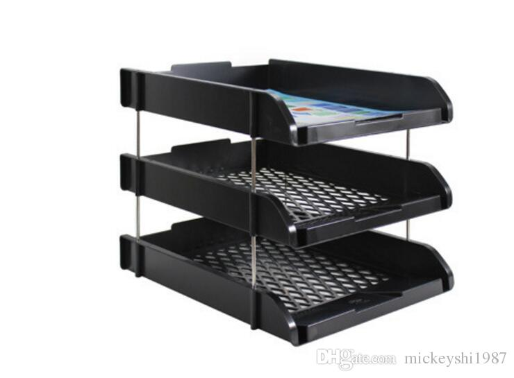 desk office file document paper. 2018 3 Pack Stackable Letter File Holder Organizer Tray Desk Office Document Paper Storage Filing Supplies From Mickeyshi1987, K