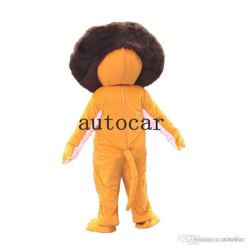 Hot Adult Size ferocious Animal Lion Cartoon Mascot Costume Party Fancy Dress Big High Quality Furry Polar