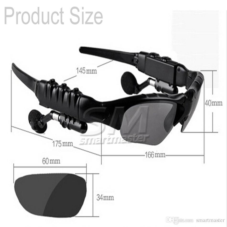 Lunettes de soleil casque lunettes intelligentes Stéréo Sports Sans fil Bluetooth V4.1 casque mains libres écouteurs Musique Lecteur pour Samsung