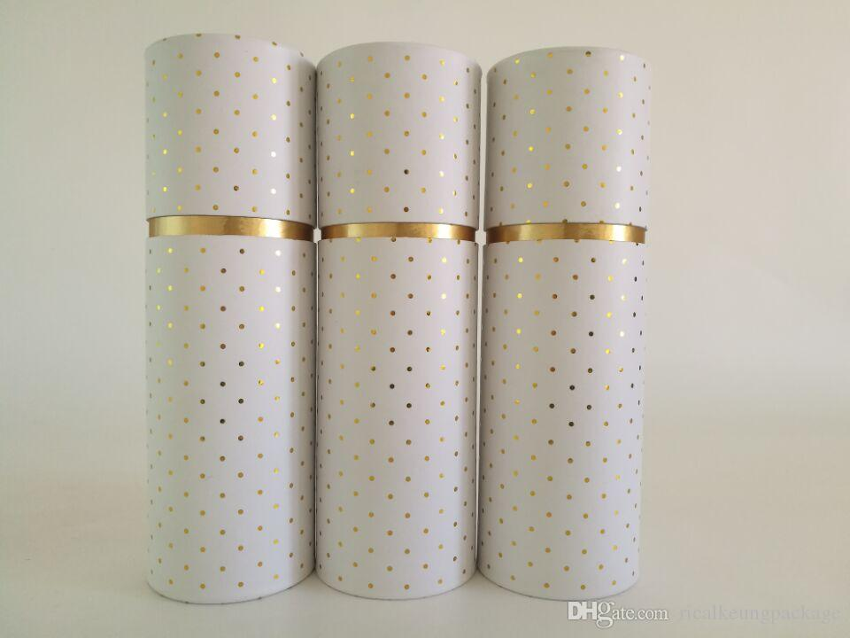 New custom round paper packaging cardboard cylinder tube for Kraft paper craft tubes