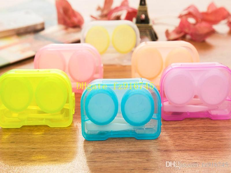 50psets / 4 en 1 kits boîte Companion avec Hanging boîte de lentilles de contact trous Lunettes Case Dressing cas