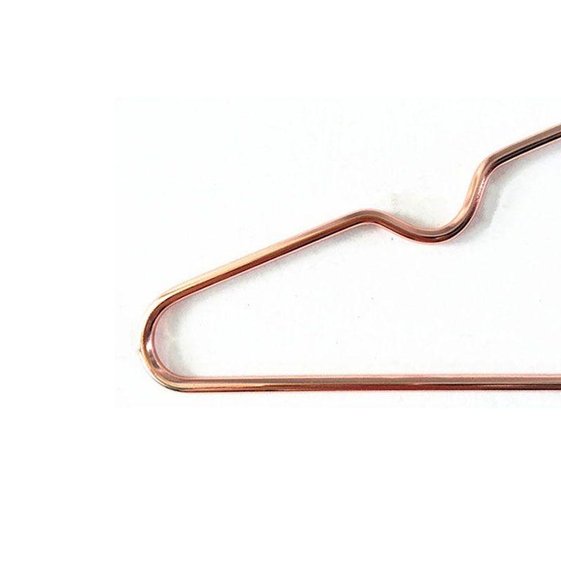 Multipurpose Lavagem A Seco de Bronze Elegante Rosa de Ouro Cabide Cabide de Cobre Cabide Organizador Antiderrapante ZA4690