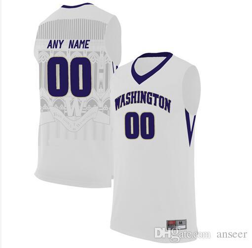Grosshandel Manner 2017 Kundenspezifische Washington Huskies Jersey