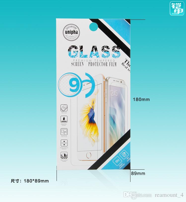 Großhandel Handy Premium Gehärtetem Glas Film Schutz Einzelhandel Verpackung Box für iPhone 6 6 Plus 7 7 Plus Papier Paket