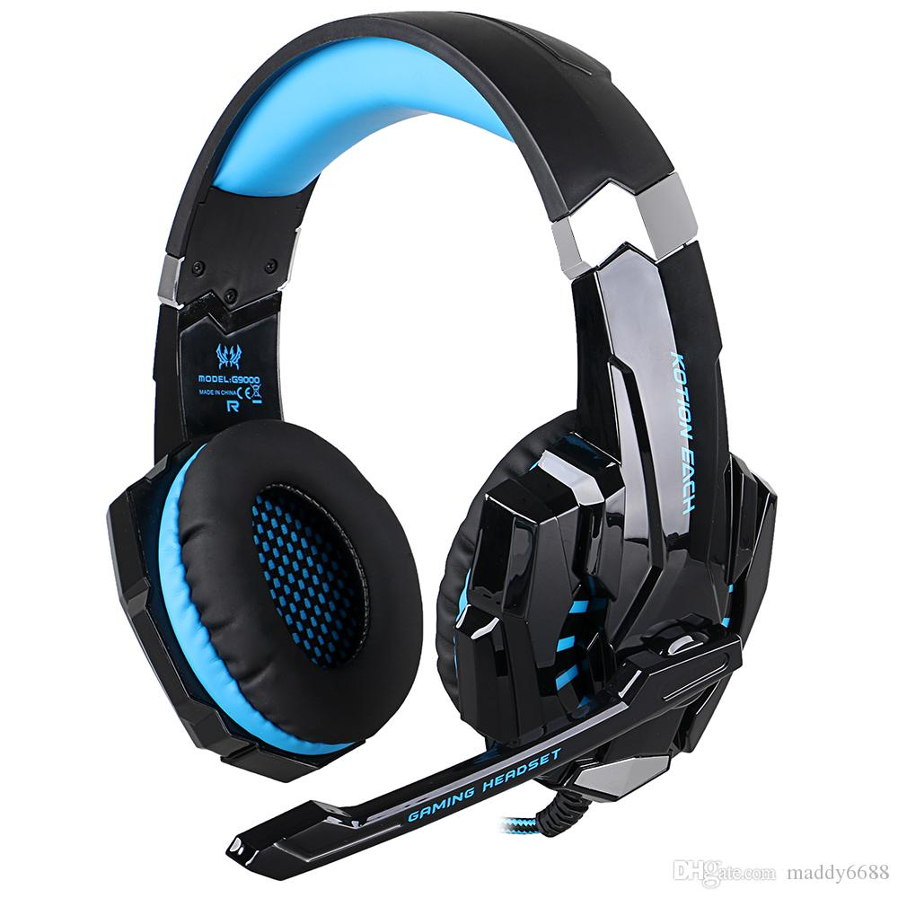 USB Ear Phone Light Emitting Products Headsets G9000 USB 7.1 Wired Headphones Cool Game Headphone Fast Shipping