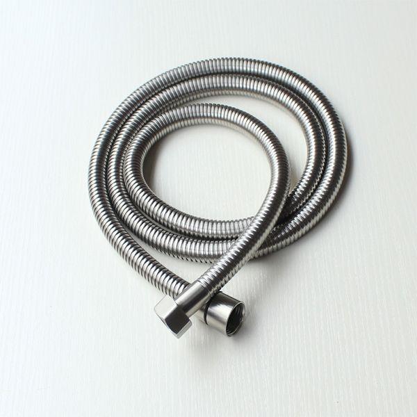 2017 1.5 meter Stainless steel shower hose Bathroom accessories Flexible water pipe for bath Standard universal Shower Head Plumbing Hose