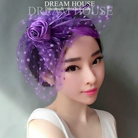 Woman Headdress Hair Flower Girl Bridesmaid Short Hair Female Hat