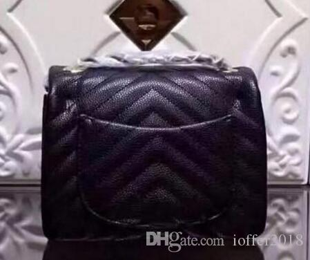 1115 Woc Caviar V Women Quilted Chain Bag Crocodile Leather Snake