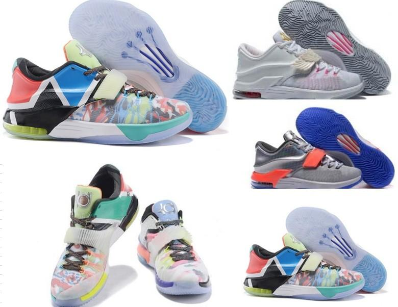 new styles 4a8b8 42c85 (with box) Drop Shipping KD7 Aunt Pearl 7 For Mens Basketball Sport Shoes  Free Shipping ship