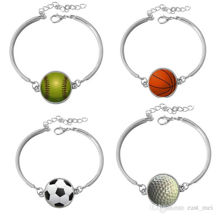 Best gift New Football Basketball Bowling Rugby Series Bracelet Bracelet FB254 mix order 20 pieces a lot Charm Bracelets