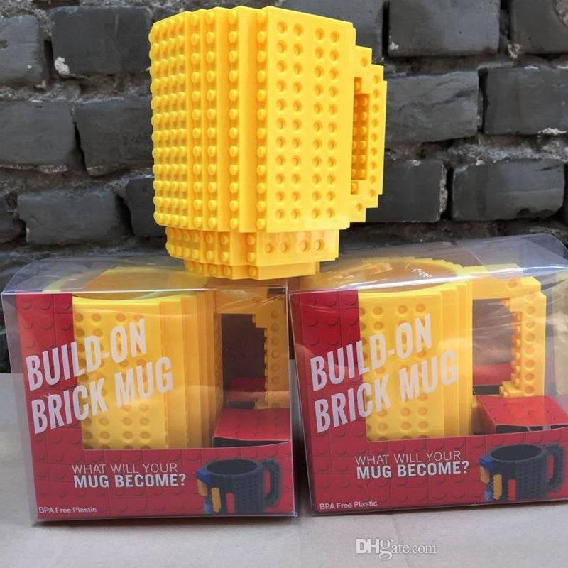 New Durable Lego Cup Offee Cup Diy Assembly Cup Mugs Three Colors ...