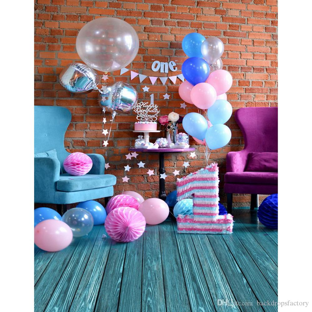 2019 Baby S 1st Birthday Party Photography Backdrop Indoor Brick