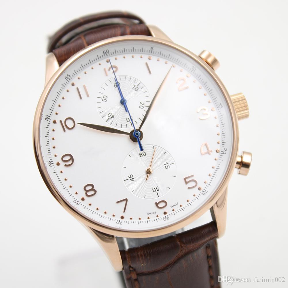 4e656cf22ed6 Compre Reloj Internacional De Acero Análogo De Digitaces Del Cuero ...
