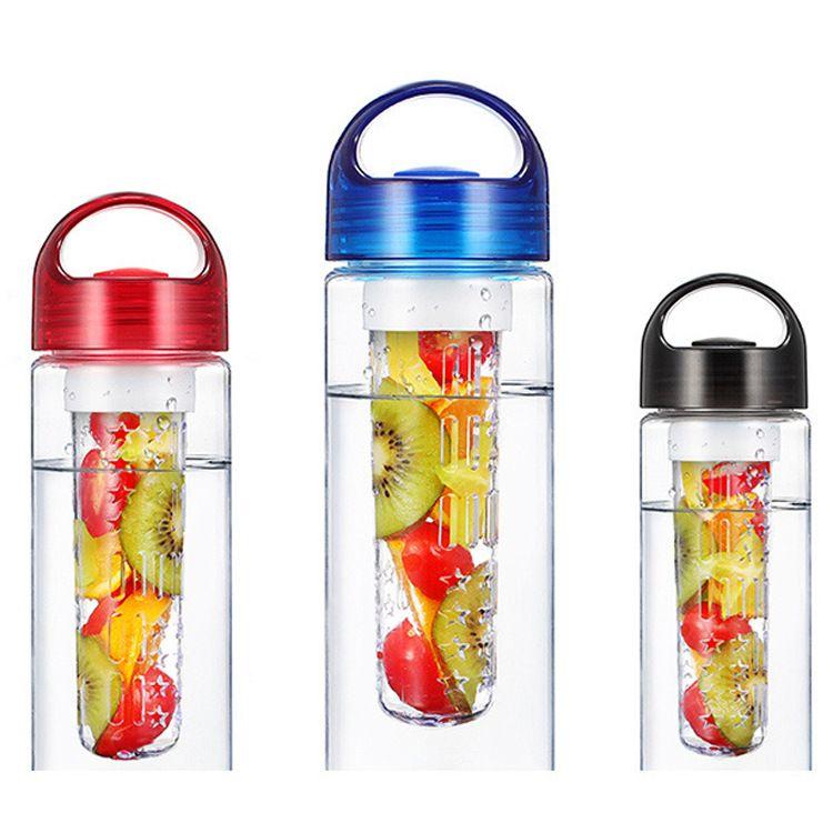 2020 Bottiglia nuovo frutto infusore acqua colori multipli Bottiglia BPA-Free Fruit Infusion sport bottiglia d'acqua Tritan