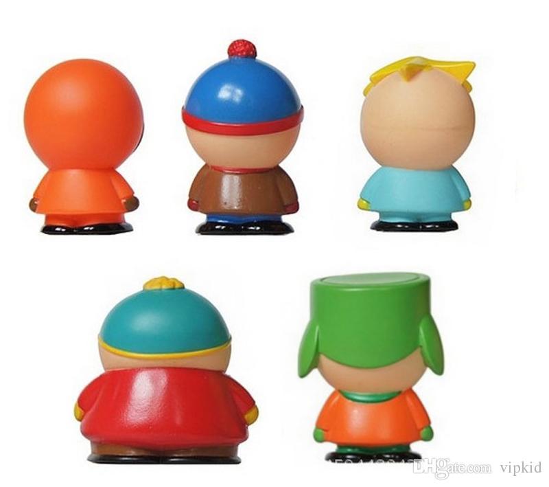 5 adet / grup South Park Aksiyon Figürleri 6 cm South Park araba Bebek Seti PVC çocuk catoon oyuncak