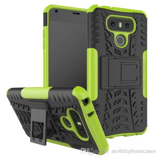 neue Handy Rüstung Fall für LG G6 TPU + PC Dual Layer Neo Hybrid stoßfest Heavyduty Halter Abdeckung für LG G6 Fall