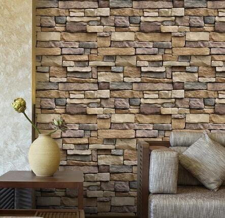 Vintage Brief Wall Sticker Wall Bricks Pattern Self Adhesive - Vinyl wall decals brick