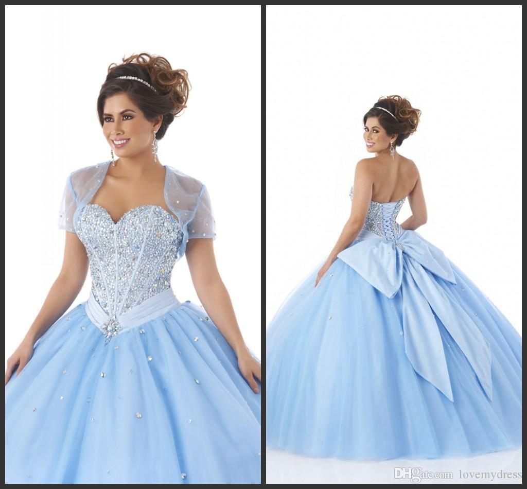 Quinceanera Dresses Sweet 16 Girls Elegant Bow Custom Made Formal ...