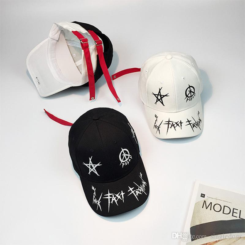 9bd00b4a6d5 Lovers Hiphop Baseball Hats For Men Women Letter Embroidery White ...