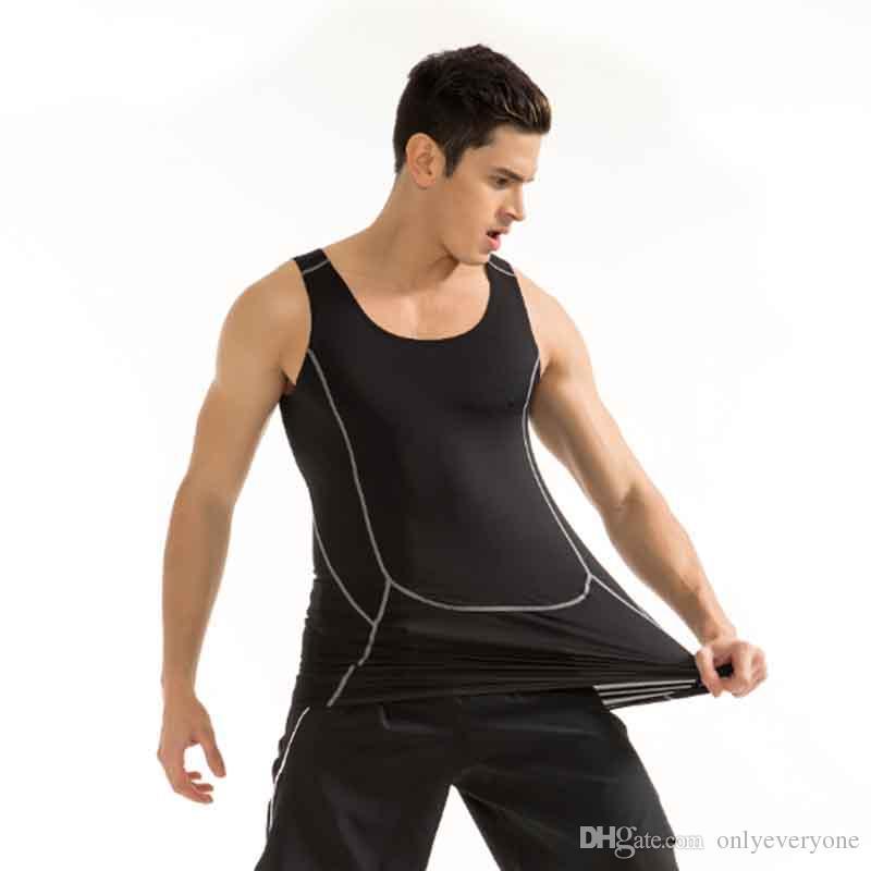Männer Sport Kompression Pro Shirt Training Weste eng Fitness schnell Basketball Sportbekleidung Tank Top