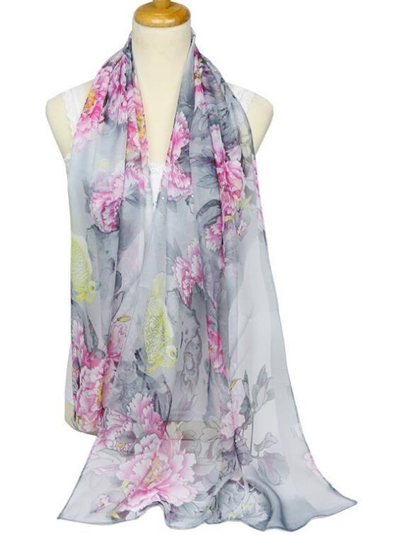 New brand scarf women's long shawl autumn and winter chiffon luxury scarf wraps designer scarf scarfs for women 074