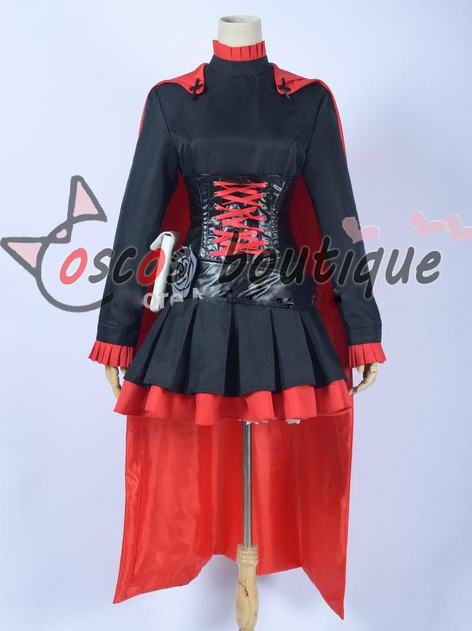 Anime Rwby Ruby Rose Uniform Cosplay Costume Ruby Rose Costume Rwby