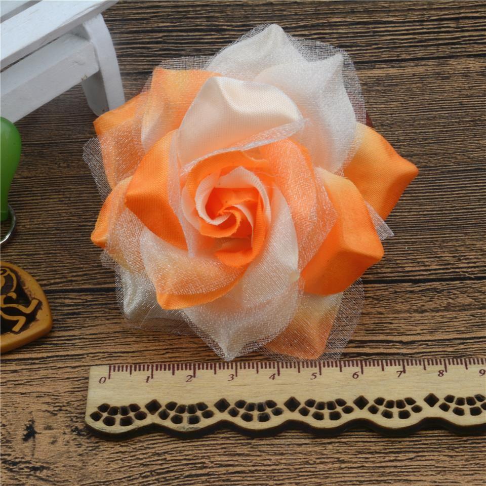 Online Cheap Large Silk Fire Rose Artificial Flower For Wedding Home
