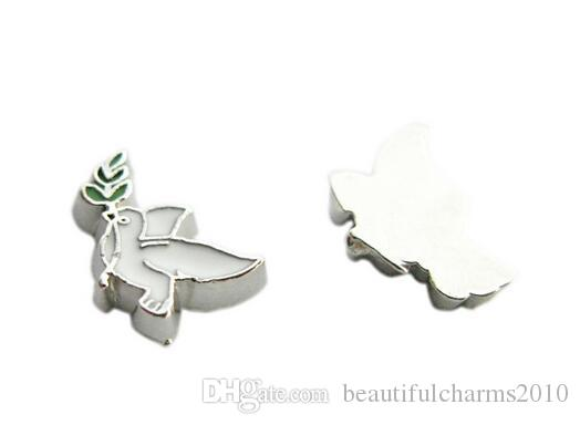 Großhandel / Taube DIY Legierung Schwimm Medaillon Charms Fit Für Magnetische Glass Living Memory Medaillon Anhänger