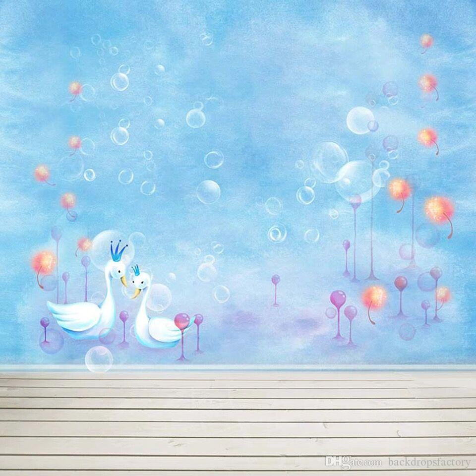 2019 baby newborn sky blue photo booth background bubbles - Baby background ...