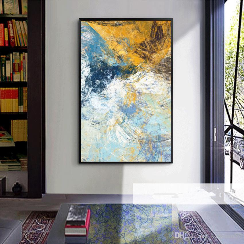 Modern abstract oil painting on canvas hd print wall art picture home decor living room new art for Oil painting for living room