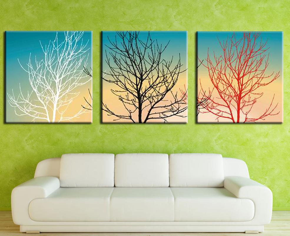 2018 Home Decor Wall Art Poster Frame Modern Style Three Puzzle ...