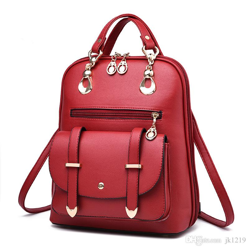New Arrival Fashion Pu Leather Backpack For Girls 2017 Trendy ...