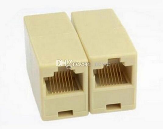 Hot Universal RJ45 Cat5 8P8C Conector do Soquete Acoplador Para Extensão de Rede Ethernet de Banda Larga LAN Cable Joiner Extensor
