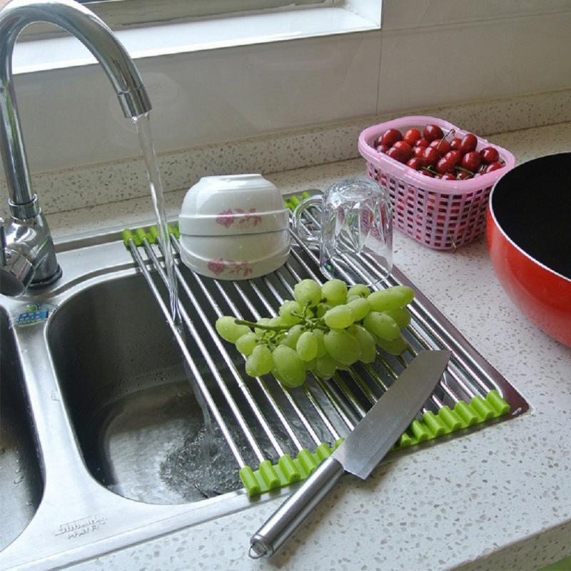 Kitchen Sink Drain Rack Discount home use folding stainless steel silicone kitchen sink discount home use folding stainless steel silicone kitchen sink drain rack shelf fruit vegetable washing rack utensil drainer from china dhgate workwithnaturefo