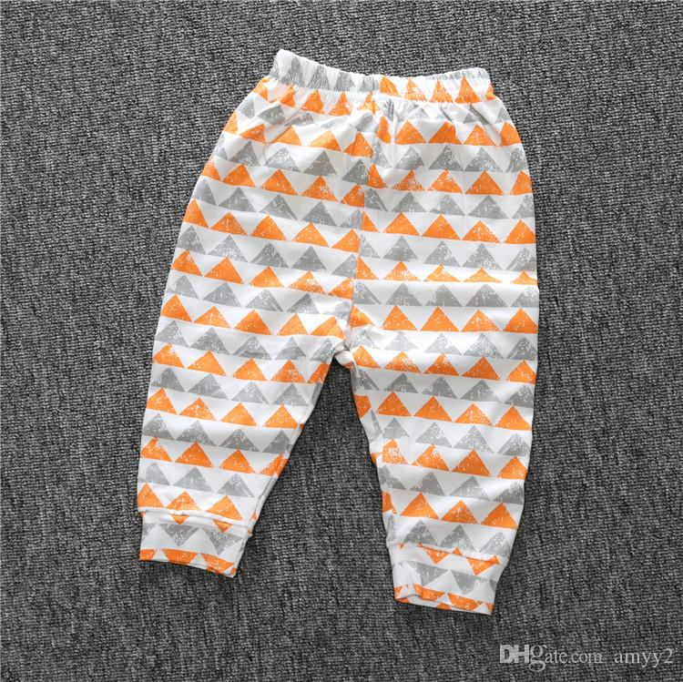 6c840e7cc0e72 2019 Orange & Gray Triangle Print Leggings / Baby Harem Pants/ Organic  Cotton Infant Footed Pants From Amyy2, $5.02 | DHgate.Com