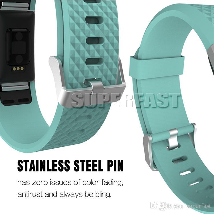Cobrar 2 Substituição Sport Watch Banda Silicone relógio inteligente Bracelet Strap Sport Style Pulseira Relógios Banda com Pacote OPP