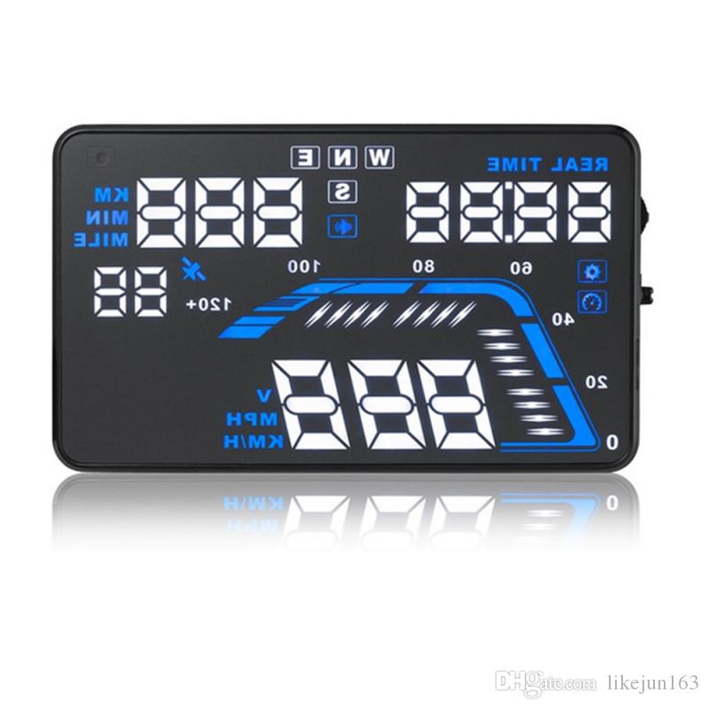 Q7 5.5inch GPS HUD head-up display car windshield projector driving data speedometer speeding Warning timer display