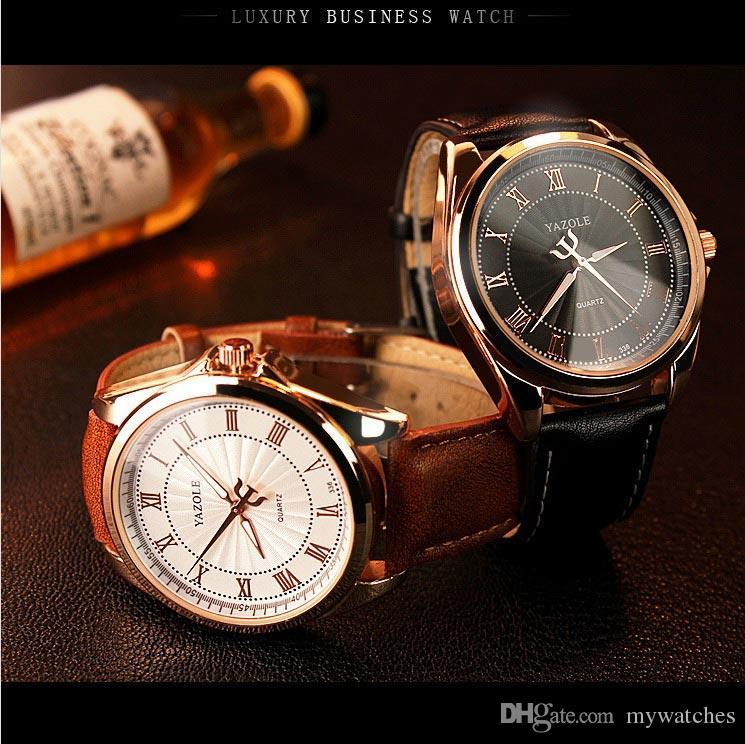 b750d6d3a3a Compre Yazole Relógios De Quartzo Homens Top Marca De Luxo Famoso 2017  Relógio De Pulso Masculino Relógio De Pulso Relógio Para Mens Business  Quartz Relógio ...