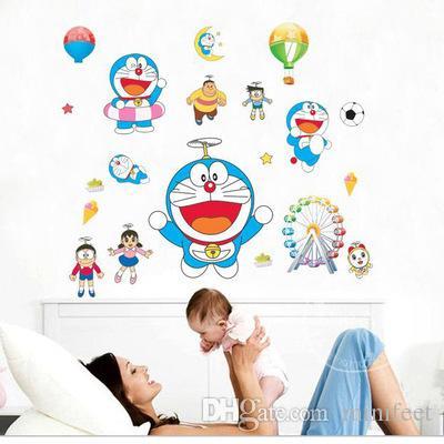 Jingle cats wall stickers animated cartoon kindergarten children room sitting room bedroom background PVC waterproof stickers
