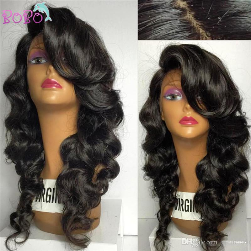 Soft Lace Front Human Hair Wigs Body Wave Brazilian Virgin Front Lace Wigs Glueless Full Lace Human Hair Wigs for Black Women