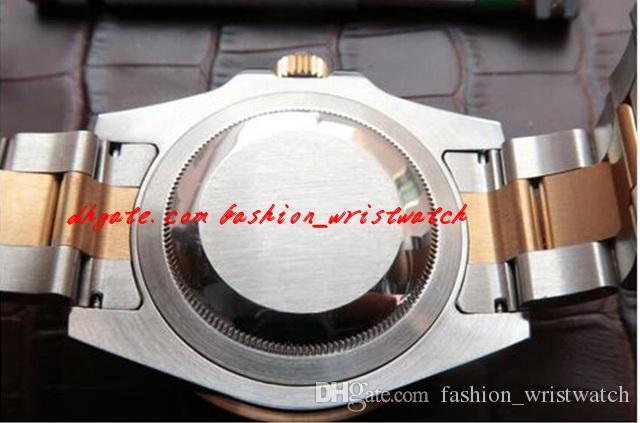 패션 크리스마스 선물 최고 품질의 새로운 망 시계 손목 시계 골드 다이얼 사파이어 블랙 베젤 116613 시계 자동 40mm 망 시계