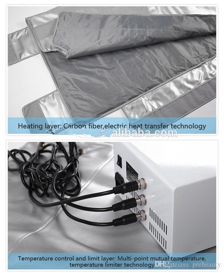 الأشعة تحت الحمراء الشحن السريع 3 مناطق العناية بالجسم الساخنة حرارة الساونا الجسم التفاف بطانية