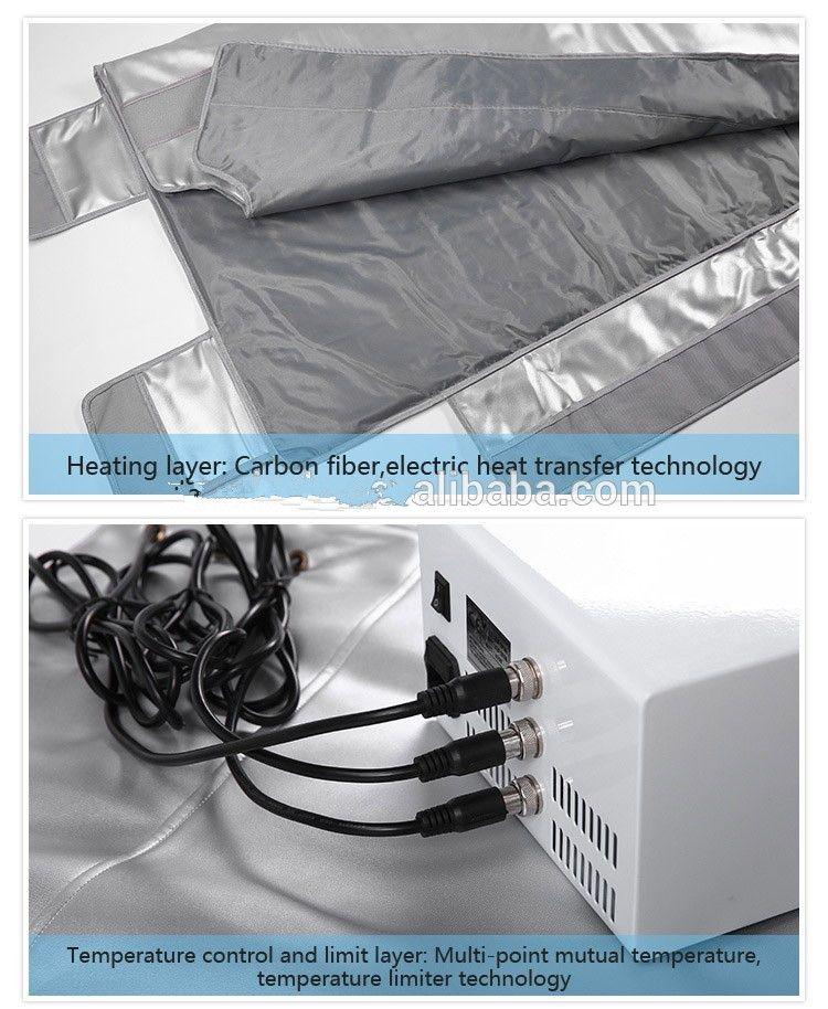 trasporto veloce la cura del corpo 3 zone infrarossi calda sauna il calore impacco il corpo coperta