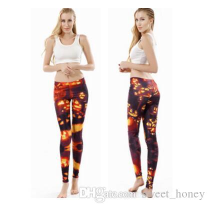 04a9231e865 Halloween Leggings Womens Fashion Slim Pants For Female Halloween ...